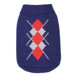 View Image 1 of Dobaz Argyle Dog Sweater - Navy