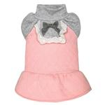 View Image 1 of Dobaz Quilted Winter Dog Dress - Pink