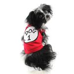 View Image 3 of Dog 1 Dog Tank by Parisian Pet - Red