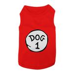 View Image 1 of Dog 1 Dog Tank by Parisian Pet - Red