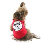 View Image 3 of Dog 2 Dog Tank by Parisian Pet - Red