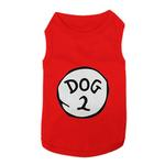 View Image 1 of Dog 2 Dog Tank by Parisian Pet - Red