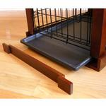 View Image 2 of Wood and Wire End Table Dog Cage - Wood Veneer