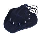 View Image 1 of Dog Cowboy Hat - Black Felt