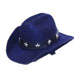 View Image 1 of Dog Cowboy Hat - Blue Felt