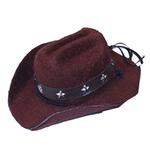 View Image 1 of Dog Cowboy Hat - Brown Felt