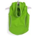 View Image 1 of Dog Hoodie with Reflective Trim by Daisy and Lucy - Lime