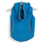 View Image 1 of Dog Hoodie with Reflective Trim by Daisy and Lucy - Turquoise