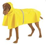 View Image 3 of Dog Rain Jacket with Reflective Strip - Yellow