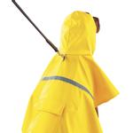 View Image 4 of Dog Rain Jacket with Reflective Strip - Yellow