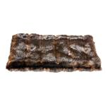 View Image 1 of Luxury Faux Fur Crate Liner by The Dog Squad - Brown Mink