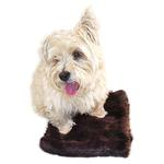 View Image 2 of Luxury Faux Fur Crate Liner by The Dog Squad - Brown Mink