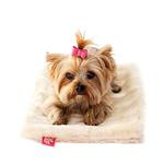 View Image 1 of Luxury Faux Fur Crate Liner by The Dog Squad - Caramel Mink