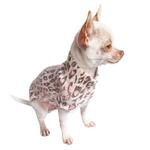 View Image 1 of Animal Instincts Luxury Mock Turtleneck Dog Sweater by The Dog Squad - Pink Leopard