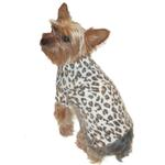 View Image 1 of Animal Instincts Luxury Mock Turtleneck Dog Sweater by The Dog Squad - Snow Leopard