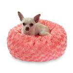 View Image 2 of Crispy Creme Donut Dog Bed by The Dog Squad - Coral Rosebud