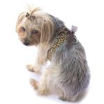 View Image 1 of Parisian Corset Dog Harness by The Dog Squad - Leopard