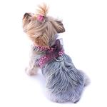 View Image 1 of Parisian Corset Dog Harness by The Dog Squad - Pink Leopard