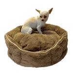 View Image 1 of Shell Dog Bed by The Dog Squad - Mocha