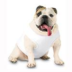 View Image 1 of Blank Ribbed Dog Tank - White