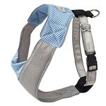 View Image 2 of Doggles Blue & Gray V Mesh Harness