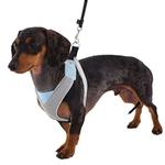 View Image 4 of Doggles Blue & Gray V Mesh Harness