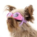 View Image 3 of Doggles - ILS Pink Frame with Flowers Lilac Lens