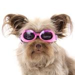 View Image 2 of Doggles - ILS Pink Frame with Flowers Lilac Lens