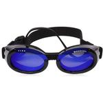 View Image 1 of Doggles - ILS2 Shiny Black Frame with Mirror Blue Lens