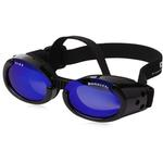 View Image 2 of Doggles - ILS2 Shiny Black Frame with Mirror Blue Lens