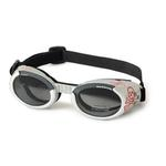 View Image 1 of Doggles - ILS2 Silver Skull Frame with Light Smoke Lens