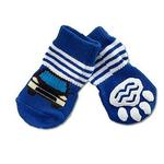 View Image 1 of Doggy Socks - Blue Car