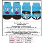 View Image 2 of Doggy Socks - Blue & Brown Argyle
