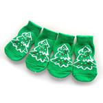 View Image 1 of Doggy Socks - Green Christmas Trees