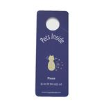 View Image 1 of Don't Let My Cat Out Door Hanger Sign - Purple