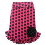 View Image 1 of Dots With Bow Pullover Dress - Hot Pink and Black