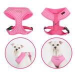 View Image 1 of Dotty Adjustable Dog Harness by Puppia - Pink