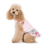 View Image 3 of Dreamy Floral Dog Dress by Dogo - Pink
