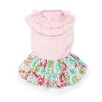 View Image 1 of Dreamy Floral Dog Dress by Dogo - Pink