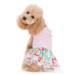 View Image 2 of Dreamy Floral Dog Dress by Dogo - Pink