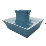 View Image 1 of Drinkwell Pagoda Ceramic Pet Water Fountain by PetSafe - Himalayan Blue