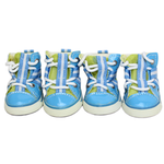 View Image 1 of Parisian Pet Dog Sneakers - Blue and Lime