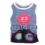 View Image 1 of Dobaz Jean Star Stripe Dress - Blue