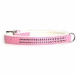 View Image 1 of Sparkle Gemstone Dog Collar - Pink