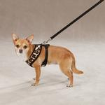 View Image 2 of East Side Collection Plush Animal Print Dog Harness - Leopard