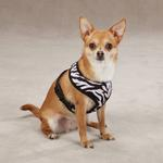 View Image 1 of East Side Collection Plush Animal Print Dog Harness - Zebra
