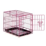 View Image 2 of Easy Crate Dog Crate - Raspberry