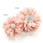 View Image 1 of EasyBOW Flower 1 Button Dog Collar Attachment by Dogo - Pink
