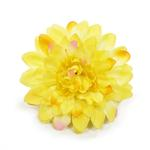 View Image 1 of EasyBOW Flower Dog Collar Attachment by Dogo - Yellow Begonia