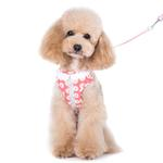 View Image 2 of EasyGO Flower Bling Dog Harness by Dogo - Pink